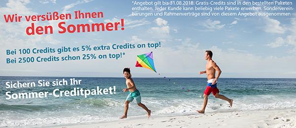 Sichern Sie sich Ihr Sommer-Creditpaket!
